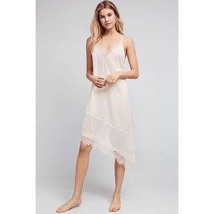 White Eloise Alice Asymmetrical Slip Casual Dress